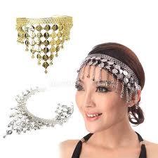 metal headbands belly hair clasp metal headband grip sequins bells
