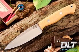 bark river knives mini aurora 3v antique ivory micarta red