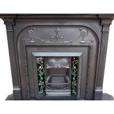 fireplace surround original cast iron antique victorian