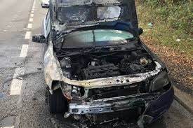miracle escape for driver after car set on fire wales online