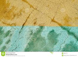 bicolour background of shabby painted damp wall stock photo