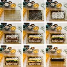 kit cuisine japonaise bamboo mat matériel japonais riz rouleau cuisine bricolage gadget