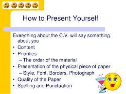 how to write a c v