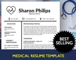 nurse resume etsy