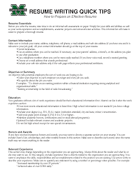 best ideas of effective resume tips with additional job summary