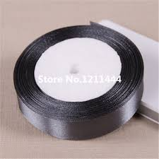 ribbons wholesale 25 yards lot 20mm solid gray polyester satin ribbons
