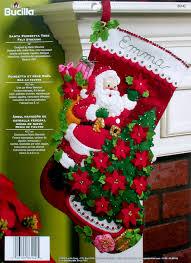 poinsettia tree santa poinsettia tree 18 bucilla felt christmas kit