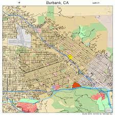 map of burbank ca burbank california map 0608954