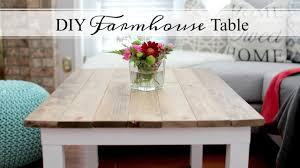 easy diy farmhouse table diy farmhouse table easy affordable youtube