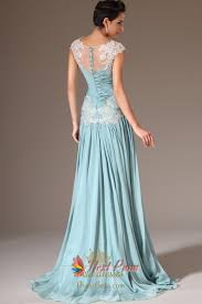 cap sleeve light blue casual prom dresses light blue evening