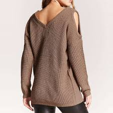 cold shoulder sweaters forever 21 open shoulder sweater rank style