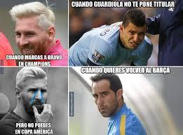 Memes De La Chions League - acribillan a claudio bravo y guardiola en los memes de la chions