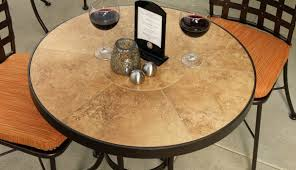 Patio Table Tile Top Lovable Patio Table With Tile Top And Large Novelty Wine Glass