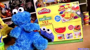 play doh cookie monster lunch box 1 2 3 set sesame street count n