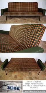 meubles design vintage canapé lit 3 places vintage design pierre guariche modèle g10
