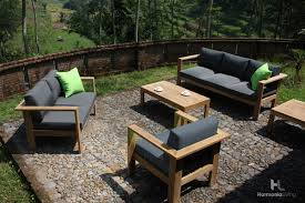 Canvas Patio Chairs by 4 Pc Ando Teak Sofa Set Hl Ando Tk 4ss Patio Productions