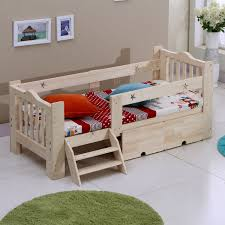 wooden bed rails wooden children bed baby cot with guardrail on aliexpress com