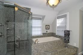 modern master bathroom with master bathroom u0026 concrete floors in