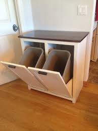 Kitchen Cabinet Bin A Tilt Out Garbage And Recycling Cabinet People Kitchens And House