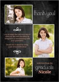graduation thank you card themes graduation thank you card wording money with high