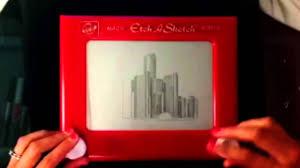 etch a sketch time lapse gm renaissance center youtube