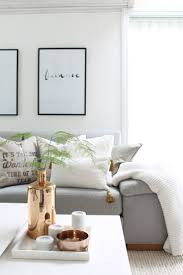 grey white and copper bank sofa wood interior