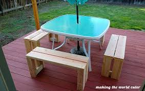 How To Build Patio Bench Seating Simple Diy Outdoor Bench For Less Than 10