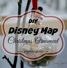 Disney Maps Diy Disney Map Christmas Ornament Upright And Caffeinated