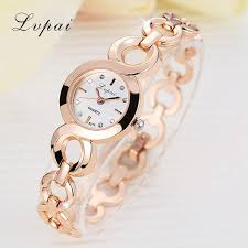 crystal bracelet watches images Lvpai brand stainess steel dress watches girls quartz watch jpg