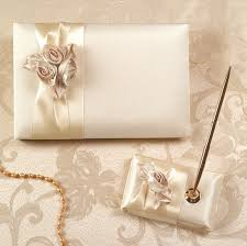 ivory wedding guest book blush ivory bouquet guest book and pen handmade cards boutique