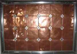 copper backsplash tiles for kitchen paintable wallpaper as a backsplash if you integrate the copper