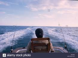Chappaquiddick Ma Sid In Fighting Chair Fishing Chappaquiddick Ma Stock Photo