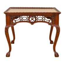 wellington hall end table vintage chippendale style carved and pierced side table by