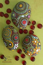 painted rocks rock art hand painted stones natural home decor