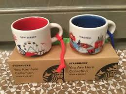 mug ornament starbucks city mug ornament new jersey virginia you are here