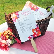 wedding favors fans diy wedding program fans kit with design template