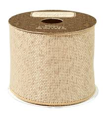 burlap ribbon burlap ribbon with metallic overlay 2 1 2 inch joann