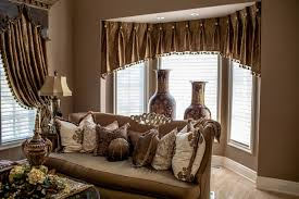 Carson S Bedroom Furniture by Marge Carson Living Room With Custom Window Treatments