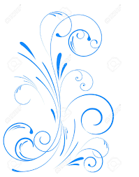 blue floral swirl ornament royalty free cliparts vectors and