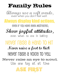 Family House Rules Tweetie Pie Baby Family Rules Printable Education Pinterest