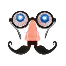 blood eyeball eye glasses with big nose and mustache mask costume