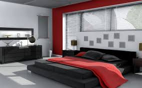 creative red white and black bedroom decor 46 for home design