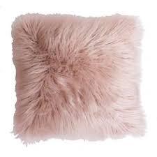 light pink fur blanket indigo blue velvet pillow by tonic living www tonicliving com we