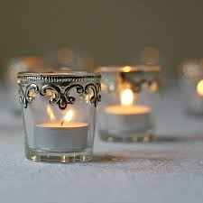 silver tea light holders set of two silver and glass tea light holders by the wedding of my