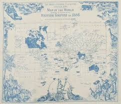 British India Map by The India U0026 Colonial Exhibition London 1886 Map Of The World