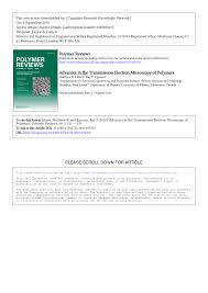advances in the transmission electron microscopy of polymers