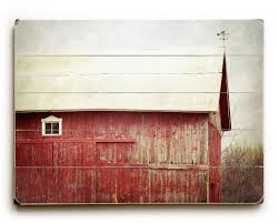 modern rustic barn art wood plank art red barn on wood