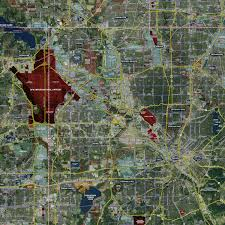 map of dallas fort worth dallas fort worth expanded rolled aerial map landiscor