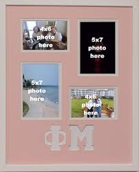 sorority picture frames mu sorority 16x20 collage photo mat and wall mount frame for 5x7