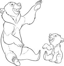 brother bear coloring pages brother bear coloring pages clipart